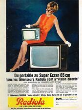 F- Publicité Advertising 1966 Les Televiseurs portable et Super ecran Radiola