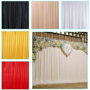 Silk Backdrop Curtain Photo Booth Wall Wedding Birthday Party Background Decor