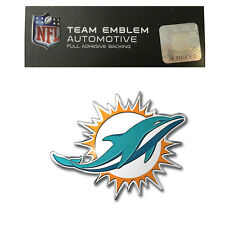 Promark New NFL Miami Dolphins Color Aluminum 3-D Auto Emblem Sticker Decal