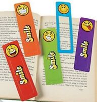 Smiley Bookmarks - Book Reading School Party Bag Fillers Pack Sizes 6 - 48