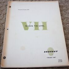 DRAGNET TV SERIES SHOW SCRIPT PERSONALLY JOE CONLEY