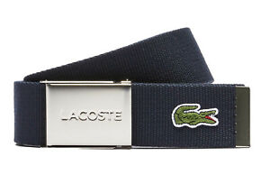 LACOSTE Men's Belt Made of Fabric Pretty Case Color Selection 35 3/8-43 5/16in