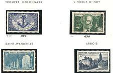 lot année 1951 4 timbres  neufs** à voir cote 11e