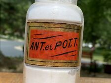 ~Sweet ~ Antique Apothecary Red Poison Label Under Glass Pharmacy Bottle ~L@K~