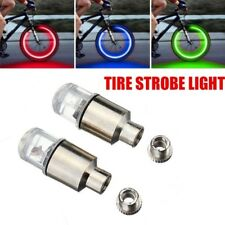 2X Ultra sharp LED Bike bicycle Wheel Light with random logo Tyre Valve /< BLUE/>