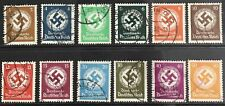 Germany Third Reich 1934 Swastika Official issues Used