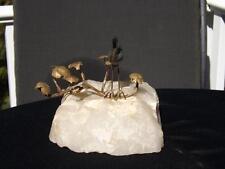 Signed Curtis Jere 1972 Heron Bird on Shore Sculpture on Quartz