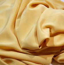 Crepe de Chine,100% Seide, italienisch Crepe de Chine, karamellgelb 140 cm br,