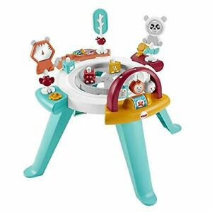 Fisher-Price 3-in-1 Spin & Sort Activity Center Watermelon Mint Convertible A...