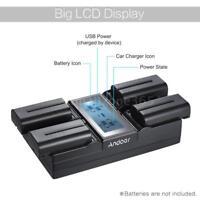NP-F970 4-Channel Camera Battery Charger SONY NP-F550 F750 F950 FM50 FM500H QM71