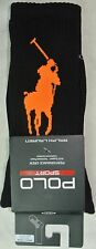 Polo Ralph Lauren Mens Sport Crew Socks One Size Athletic Thermovent Black New