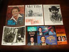 Mel Tillis Concert Memorabilia - 1976 Mca Press Kit, Program, Tickets, Handbills