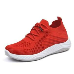 NEW WOMENS RUNNING TRAINERS LADIES FITNESS GYM SPORTS COMFY LACE UP SHOES SIZE
