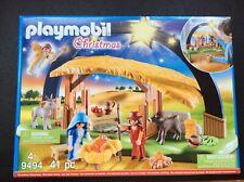 Playmobil Christmas Illuminating Nativity Manger Set New Sealed #9494 Playmobile