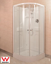 "SHOWER CUBICLE WITH ACRYLIC BACK WALL 900X900X2000MM SEMI CIRCULAR ""NEW"""