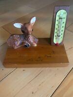 Summit Of Pikes Peak Alt. 14,110 Vintage Desk Thermometer With Deer