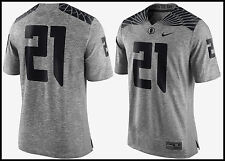 c667402b5 Nike Oregon Ducks Gridiron Grey Football Jersey 21 Mens Size L