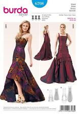 BURDA SEWING PATTERN MISSES' EVENING GOWN DRESS    SIZE 8 - 18  6708