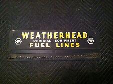 Vintage Original Weatherhead Fuel Lines Service Station Parts Display Rack Sign