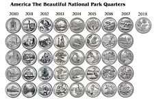 2010-2018 P&D America The Beautiful All 8 years + 2018 Pictured Rocks 82 coins