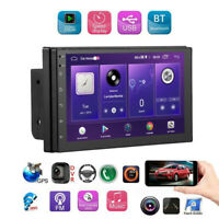 "7"" HD Car Stereo Radio GPS Navigation Bluetooth 2 Din Mp3 Mp5 Player FM Audio"