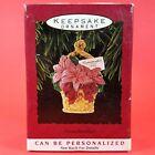 Hallmark Keepsake Christmas Ornament Flower Basket - GRANDMOTHER - 1993 - w/ Box