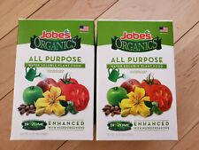 2 Jobe's Organics All Purpose Fertilizer 5-2-3 Water Soluble Plant Food Mix  New