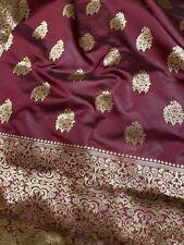 Maroon Handloom Banarasi Silk Saree