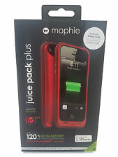 Mophie iPhone se 5S 5 Juice Pack Plus ricarica Cover-rosso