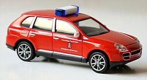 Porsche Cayenne FW Bietigheim-Bissingen 2002-07 rot red 1:87 Herpa 046206