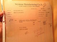 1935 SEYMOUR MANUFACTURING CO Hand  Implements BILL HEAD SEYMOR
