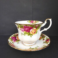 Royal Albert Old Country Roses Tea Cup Saucer Montrose England Vintage Multiples