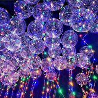 Light Up LED Bubble Balloon Light Colorful Luminous Birthday Party Wedding Decor
