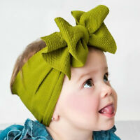1x Kid Girl Baby Headband Toddler Big Bow Headwrap Hair Bands Headwear  Knot Y