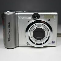 Canon PowerShot A80 4.0MP Digital Camera Silver - ASIS For Parts 💥