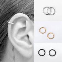 Women Lady Stainless Steel Piercing Hoop Earring Helix Nose Ear Cartilage Ring