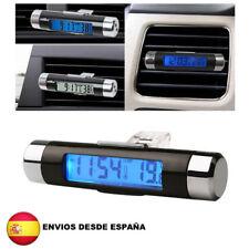 2 en 1 Termometro digital led y reloj para el coche temperatura vehiculo lcd