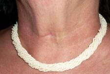 More details for stunning unusual vintage retro pompadour pearl necklace original box 46cm long