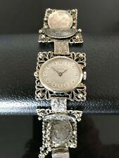 Antique EISENHARDT Jeweled Watch Manual Winding With Splendid Bracelet. Working!