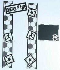 SOCCER Scrapbook Border Scrapbooking Album Creative Game Sports Athletic Ball