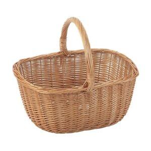 Wicker Buff Shopping Basket Home Storage Cooks Basket Market Shopper