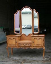 Louis XV Style French Carved Oak Ladies Dressing Table - (SVDT7).