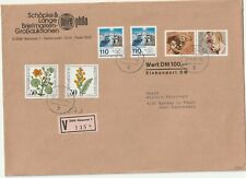1982 Germany oversize cover from Hannover to Bresse im Bruch