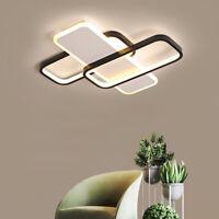 Modern 24W LED Ceiling Light Rectangle Fixtures Lamp Living Room Bedroom Remote