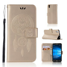 For Alcatel Idol 4 Cell Phone Case Hybrid PU Leather Wallet Pouch Flip Cover