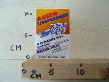 STICKER,DECAL ASSEN IJSSPEEDWAY HALVE FINALE WK 1995 HOLLAND A