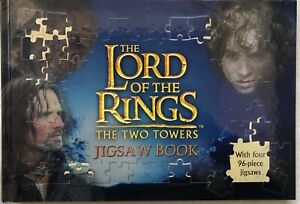 LORD OF THE RINGS THE RWO TOWERS: HARDCOVER JIGSAW BOOK CIRCA 2003
