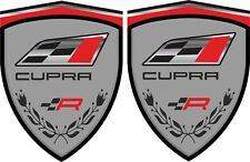 Seat Leon Ibiza Cupra R 80mm Wing Decals Stickers Quality Laminated bubble free