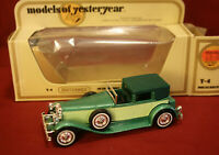 Matchbox Models Of Yesteryear Y-4 1930 Model J Duesenberg