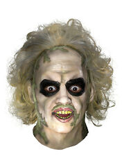 Beetlejuice Costume Accessory, Mens Beetlejuice Full Mask with Hair